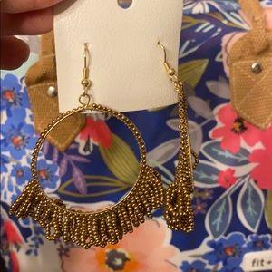 Free people Beaded hoop earrings